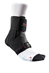 McDavid 195 Deluxe Ankle Brace with Strap (Black, Large)
