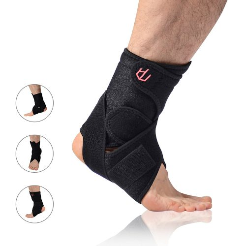with Breathable Adjustable Ankle Stabilizer Support for Sports Injury Recovery & Sprain Protection